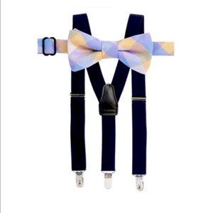 Crown & Ivy Boys 8-20 Bow Tie Suspender Set